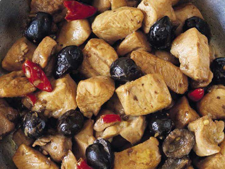 Estofado de Pollo con Aceitunas